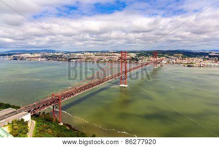 View On The 25 De Abril Bridge - Lisbon, Portugal