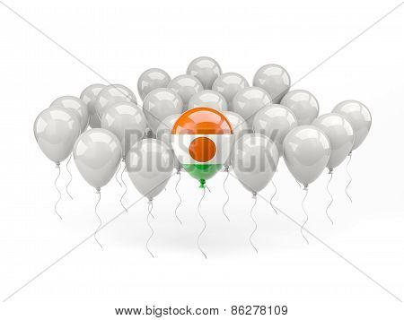 Air Balloons With Flag Of Niger