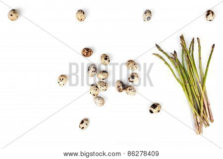 Quail Eggs And Asparagus