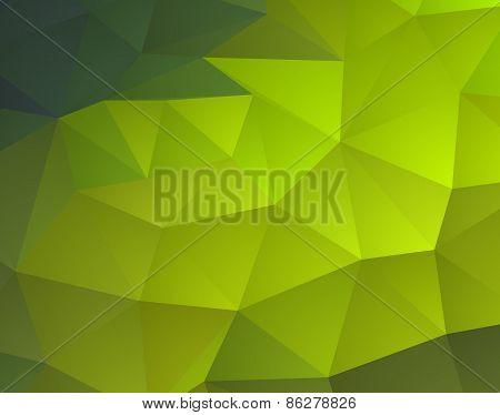 Abstract green mosaic background. Spring season