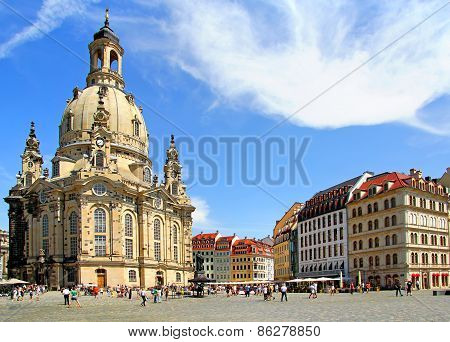 Lutheran Church Dresden Frauenkirche In Dresden