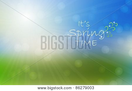 Abstract blur color light background. Bokeh effect. Spring background with sunlight.