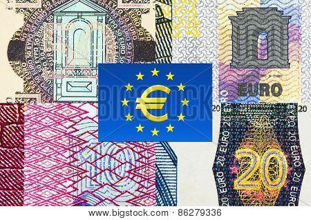 Euro Banknotes Macro Fragments