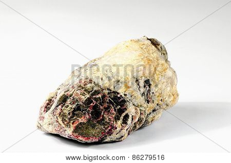 Colored Stone On A White Background
