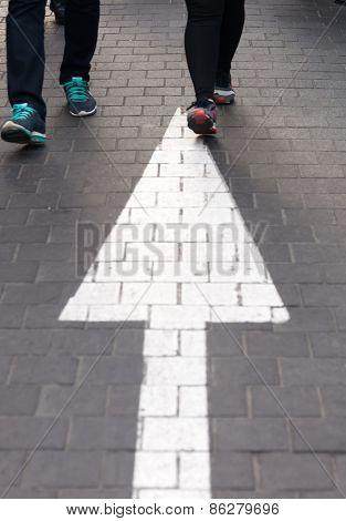 Arrow Straight On Walking Street