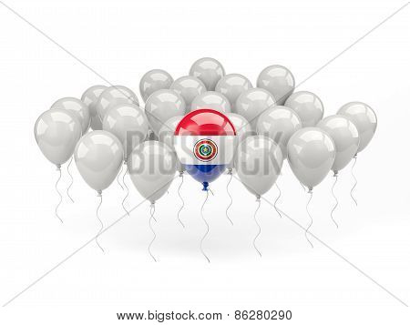 Air Balloons With Flag Of Paraguay