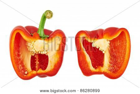 Sweet bell pepper isolated