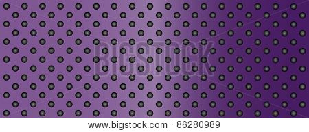 High resolution concept conceptual violet or purple metal stainless steel aluminum perforated pattern texture mesh banner background
