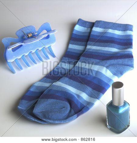 blue accessories