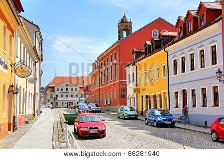 Town Street In Koenigsbrueck