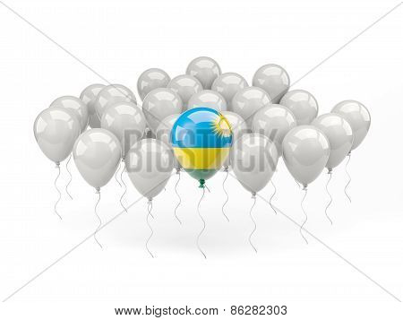 Air Balloons With Flag Of Rwanda