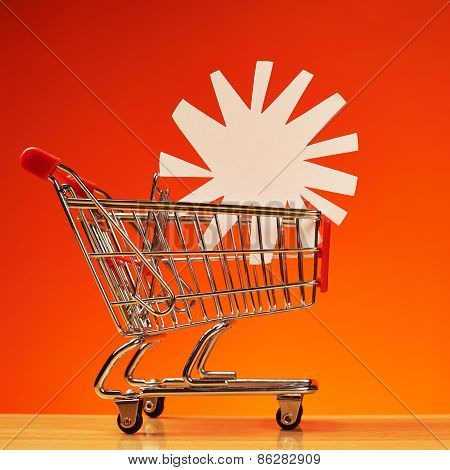Sun shape inside shopping cart