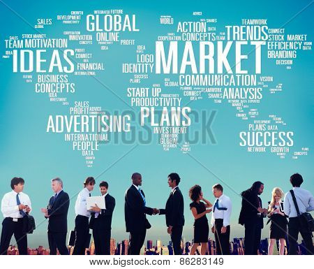 Market Plans Ideas Advertising Business Strategy Concept