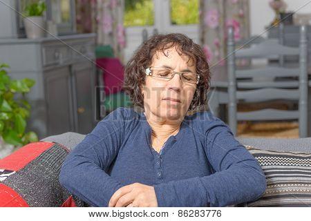 Woman Has A Stomach Ache
