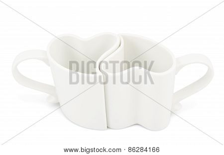 Two heart shaped cups