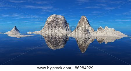 Mountains Above The Water.