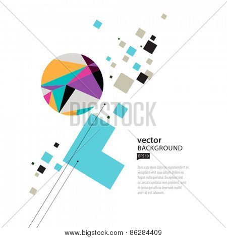 Vector abstract colorful geometric background. EPS 10