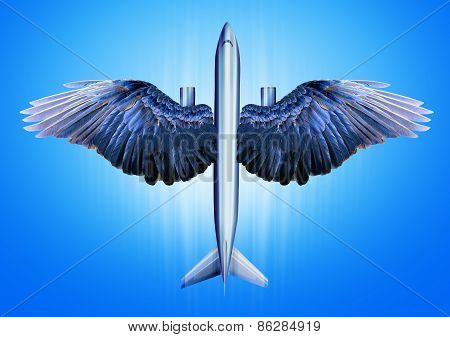 Aircraft with bird wings