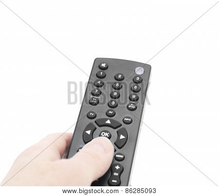 Tv Remote In Hand