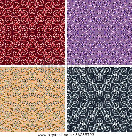 seamless mosaic pattern set