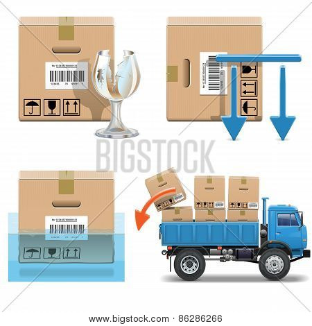Vector Shipment Icons Set 31