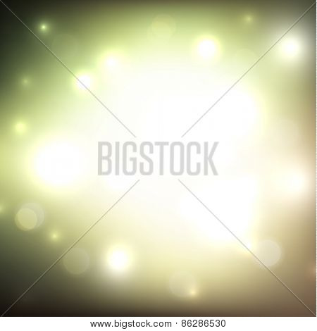 Colorful defocused lights background - raster version