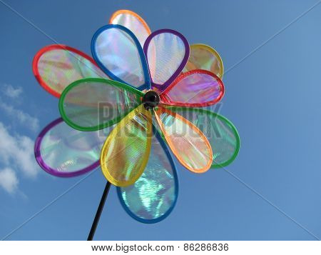 Rainbow Windmill Toy