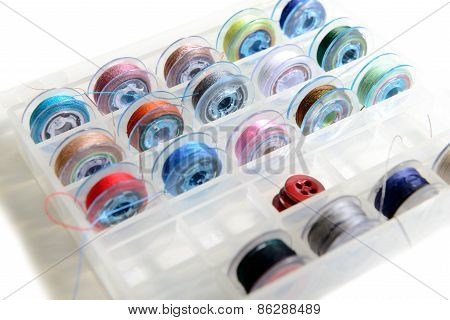 A Plurality Of Thread Bobbins For Sewing Machine