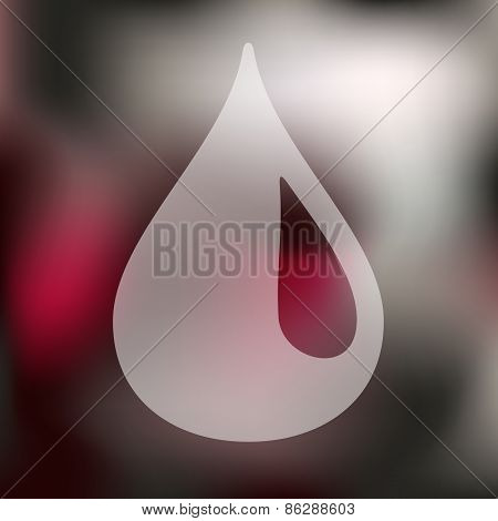 drop icon on blurred background