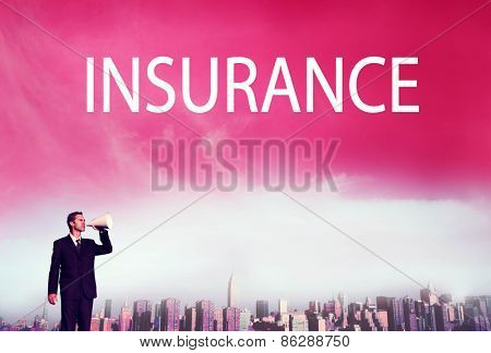 Business Insurance Policy Safty Protection Concept