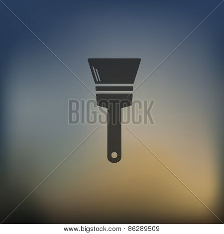 paint brush icon on blurred background