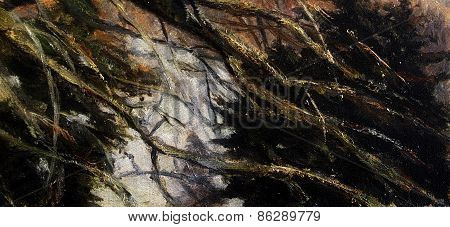 Tree Branches And Twigs, Detailed Painted Background Wallpaper