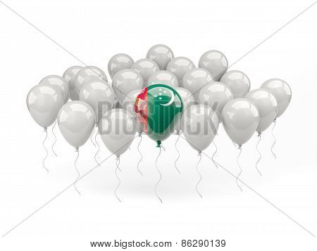 Air Balloons With Flag Of Turkmenistan