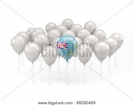 Air Balloons With Flag Of Tuvalu
