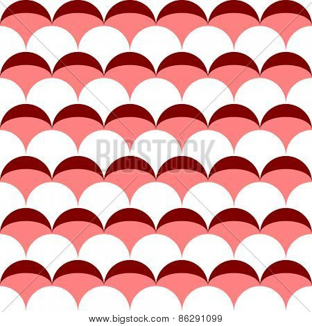 Seamless Curved Shape Pattern. Vector Regular Texture