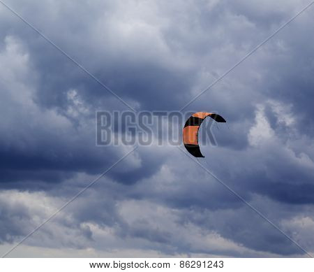 Power Kite And Gray Sky