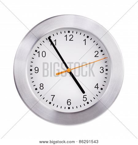 Office Round Clock Shows Almost Five Hours