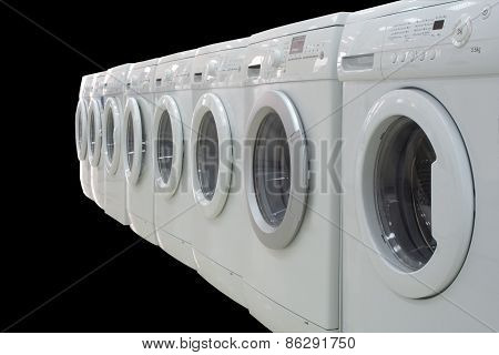 Row Of Clothes Washers