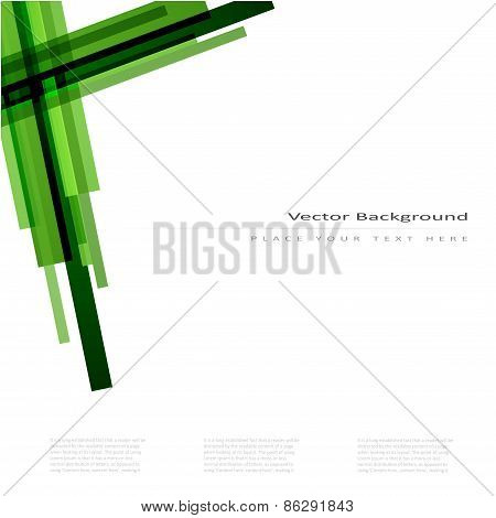 Abstract vector background with green lines