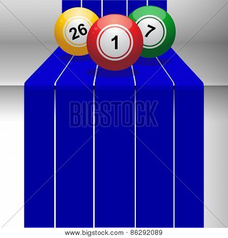 Bingo Balls On 3D Step