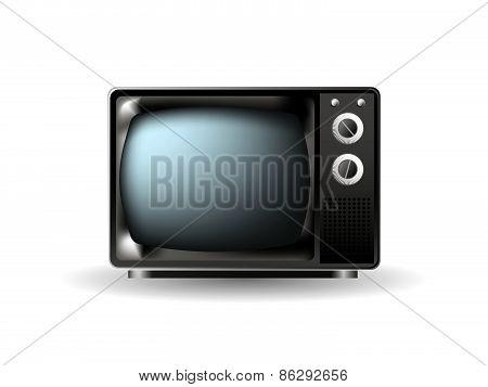 Realistic Vintage Tv. Illustration On White Background For Design