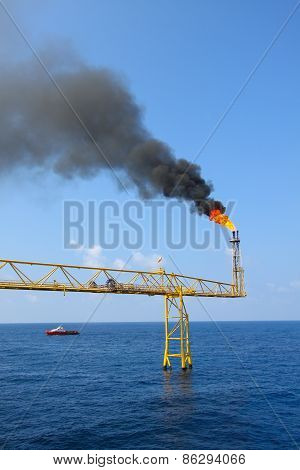 oil and gas construction in offshore for production. Oil and gas production process