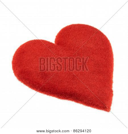 Symbolic red heart isolated
