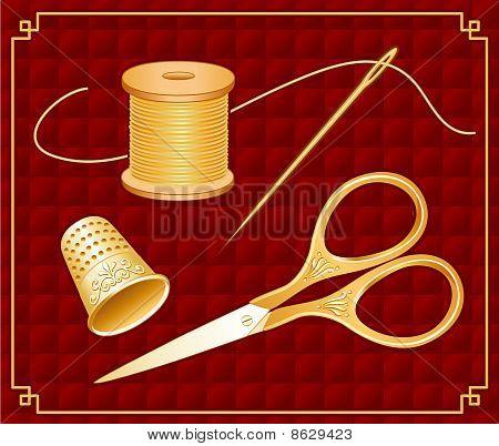 Antique Gold Scissors Set