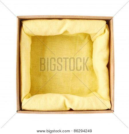 Opened cardboard box isolated