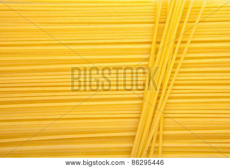 Italian Spaghetti Or Noodle Macaroni Pasta Raw Food Background Or Texture Close Up