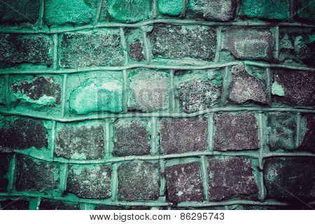 Dark Blue Grunge Background Of Stone Wall Texture
