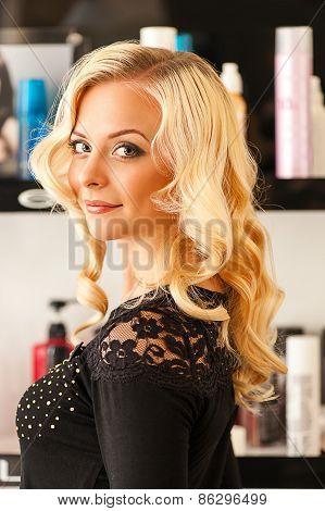 beautiful woman in a beauty salon