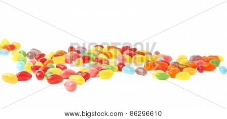 Multiple jelly bean candy sweets composition