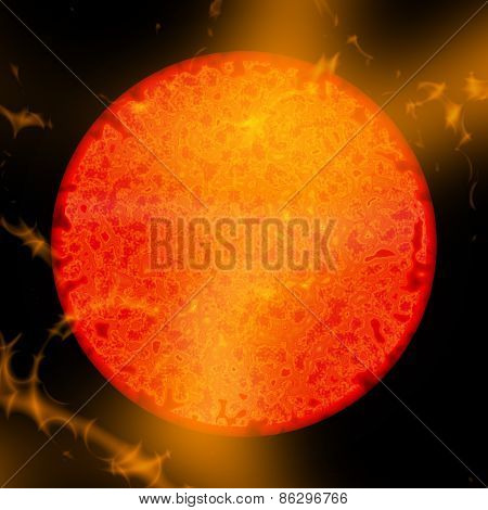 Abstract Sun Eruptions